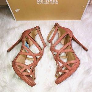 Michael Kors Pink Caged Platform Sandals 9.5M
